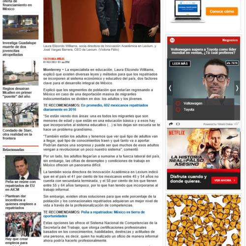 PROPONEN ESPECIALISTAS PROGRAMAS PARA REPATRIADOS: LEXIUM